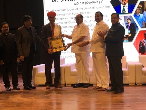 Felicitation by Shri Sharad Pawar|Dr Shirish (M.S.) Hiremath - Cardiologist Pune|Shivaji Nagar,Pune